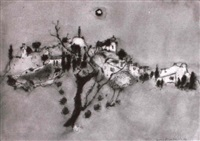 landschaft im mondlicht by marco richterich