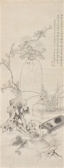 flowers by qian du