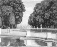 blick in den park von st. cloud by albert höflinger