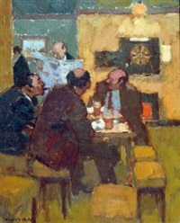 five men in a public house by william selby