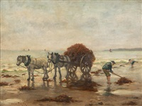 kelp gatherers, likely holland by oscar miller