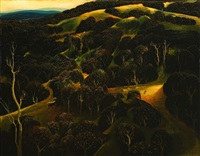 santa ynez hills by eyvind earle