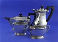 tea set (set of 3) (+ jug; 4 works) by s. blanckensee & son