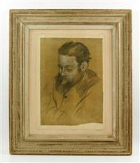 portrait of a bearded man by edgar degas