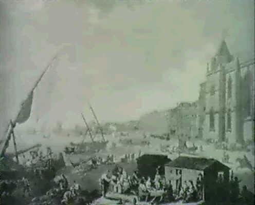 vue du couvent de stjerome de belem et de lentree de la barre de lisbone by henri lévêque