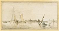 marine an der holländischen küste by cornelis (jacob c.) ploos van amstel