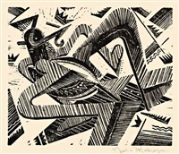 horizontal - vogel-wesen, pl. 3 (from summa summarum) by johannes molzahn