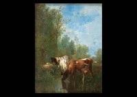 vaches à la mare by antonio cortés cordero