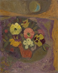 still life with flowers by denis frederic neal peploe