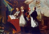 der hl. augustinus mit aufgeschlagenem regelbuch by johan-michael baader