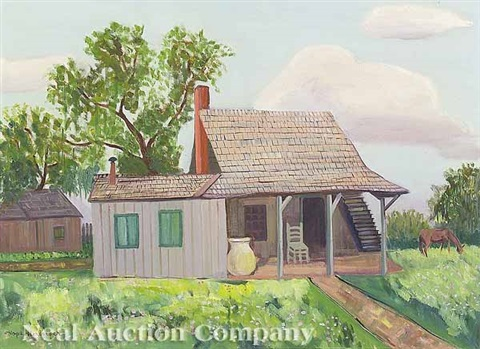 cabin scene the dock 2 works by hope herberger