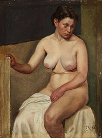 a nude female model by emilie (caroline e.) mundt