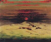 lever de lune hivernal by andré jean evard