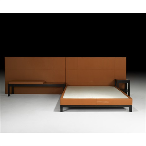headboard queen size bed nightstand and bench 4 works by christian liaigre
