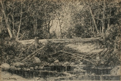 wooded landscape by william louis sonntag
