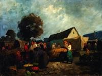 scène de marché by gyeifyngil frednty