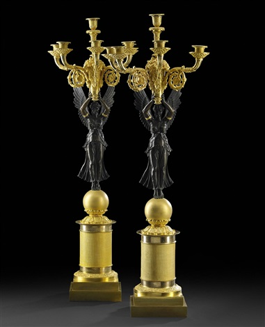 candelabras a pair empire