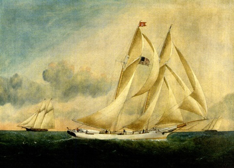 """the schooner """"mary b. dyer"""" by william gay yorke"""
