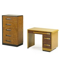 high chest and desk by donald deskey