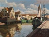 scenery from christianshavns canal by frederik wilhelm svendsen