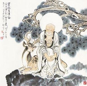 坐禄罗汉图 by gu bingxin