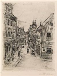 strasse in bernstadt by ludwig meidner