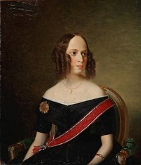 portrait of ida marie bille, née countess bille-brahe by niels peter holbech