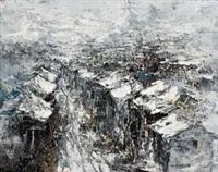 雪景上海—悠悠涉长道 (shanghai in snow-long road) by liu jiutong