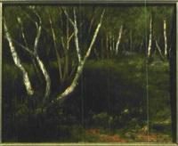 im busch bei klein machnow - landschaft mit birken by curt agthe