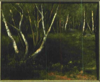 im busch bei klein machnow landschaft mit birken by curt agthe