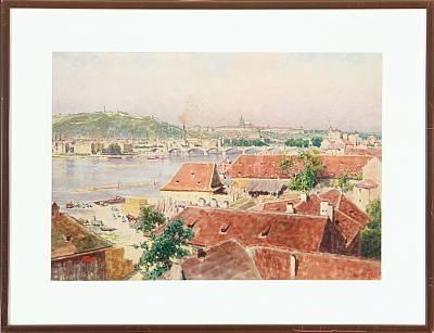 heinrich tomec view of sct nicolas in praha by heinrich tomec