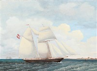 the schooner adolpline by jens thielsen locher