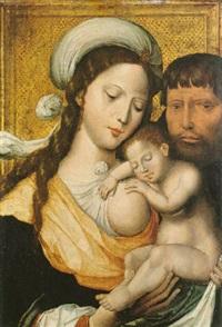 die heilige familie by master of the mansi magdalene