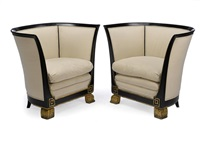 armchairs (pair) by michel dufet