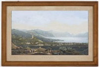 vevey et le fond du lac (engraved by himely) by j. dubois