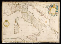 a new map of italy by john senex