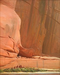 white house ruins, canyon de chelly by clyde eugene scott