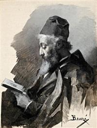 hombre leyendo by juan bauzà mas