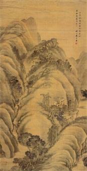 松山闲居 (landscape) by dai zilai