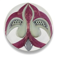 the dinner party test plate (eleanor of aquitaine) by judy chicago