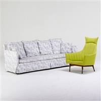 sofa and lounge chair (2 works) by paul mccobb