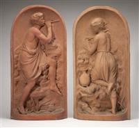 sculptures (pair) by robert wallace martin