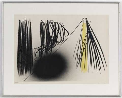 composition en noir et jaune by hans hartung