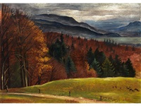 herbstlandschaft by albert birkle