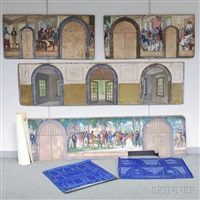 four mural studies for the entrance hall of the john c. green school of engineering at princeton university by gifford beal