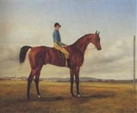 jockey auf braunem rennpferd by ferdinand rauch
