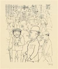 vollkommene menschen (from die schaffenden, volume ii, 4th portfolio) by george grosz