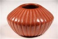 red melon bowl by angela baca