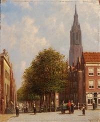 markttag in einer holländischen stadt by pieter gerardus vertin