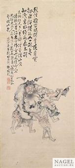 dämonen tragen den schlafenden zhong kui by xu chunling
